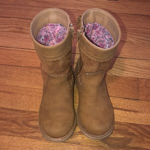 Girl riding boots with bow detail